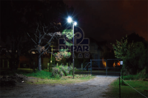 Depar Solar Street Light Project with lithium battery