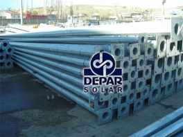 Steel Poles Ready for Transportation